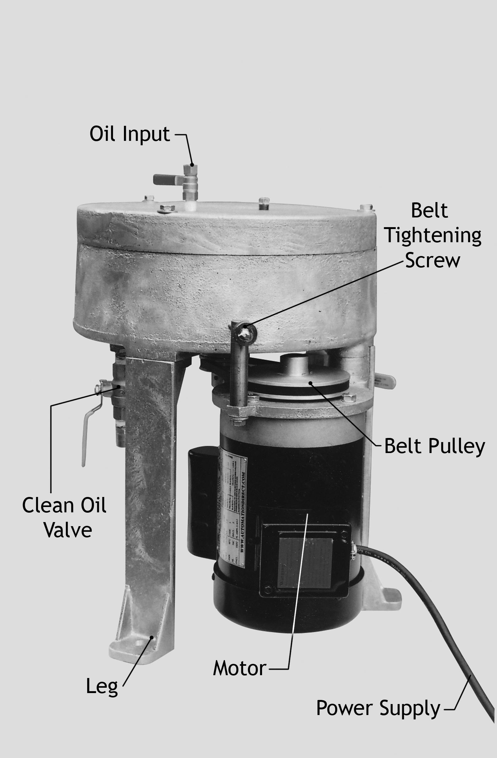 WMO oil centrifuge parts 2