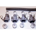 15 Foot by 1.25 Inch WVO Pump Suction Hose Kit