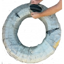 Bulk Hose 1 inch by 20 Foot Steel Reinforced  for Oil and Fuel