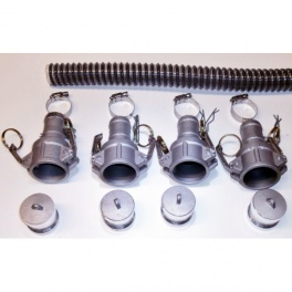 30 Foot by 1..5 Inch WVO Pump Suction Hose Kit